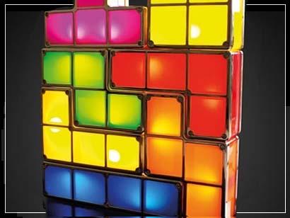 Regalos originales para Navidad: Lámpara Tetris