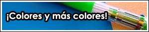 Los bolígrafos multicolor