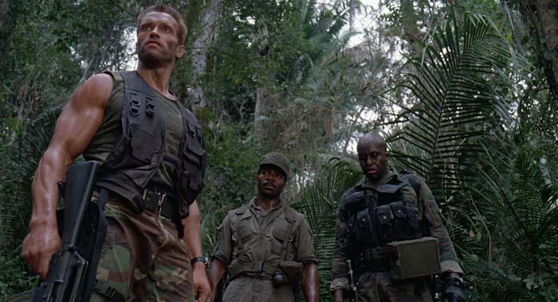 Escena de la película Depredador