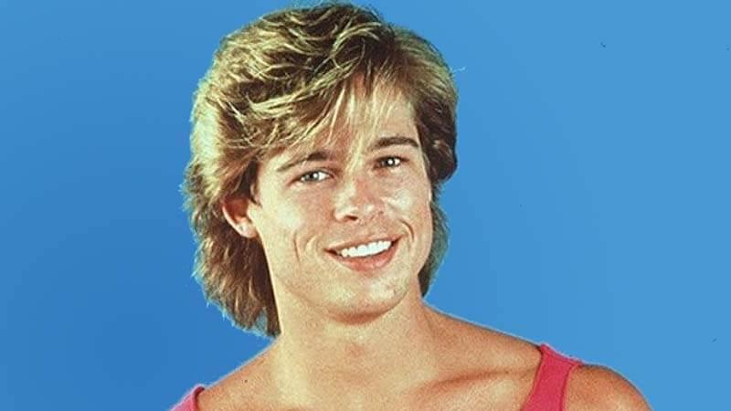 Brad Pitt en los ochenta