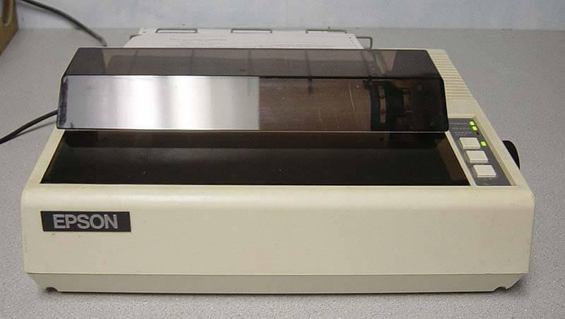 Las impresoras de margarita en los ochenta