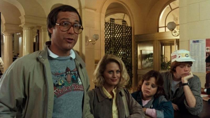Chevy Chase y su familia de vacaciones