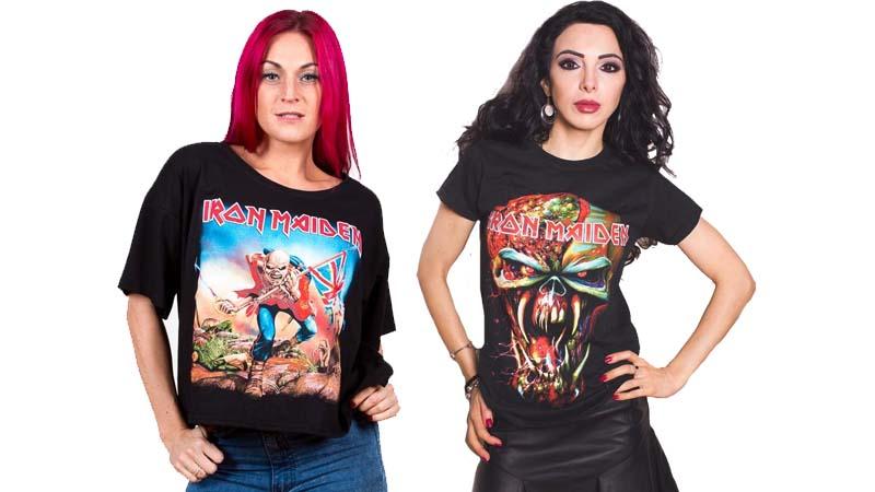 Chicas con camisetas de Iron Maiden