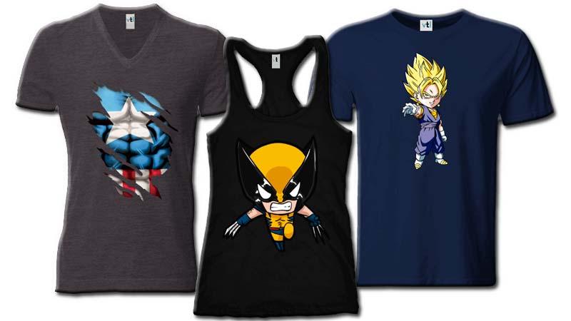 Personaliza tus camisetas frikis y presume de ellas
