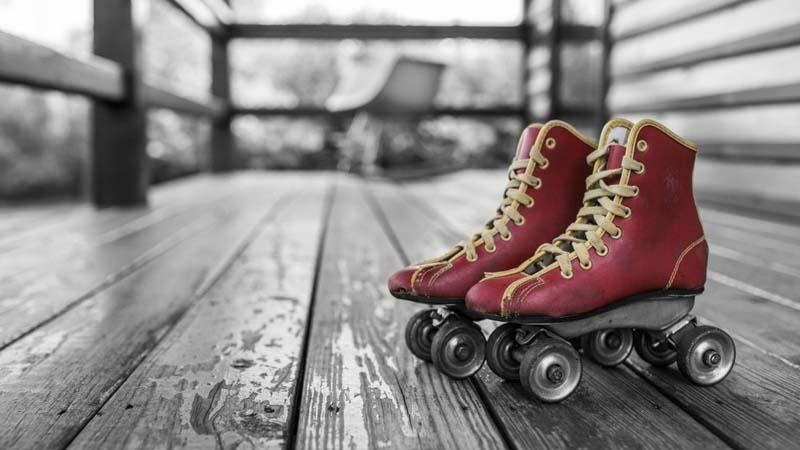 patines de cuatro ruedas de los 80