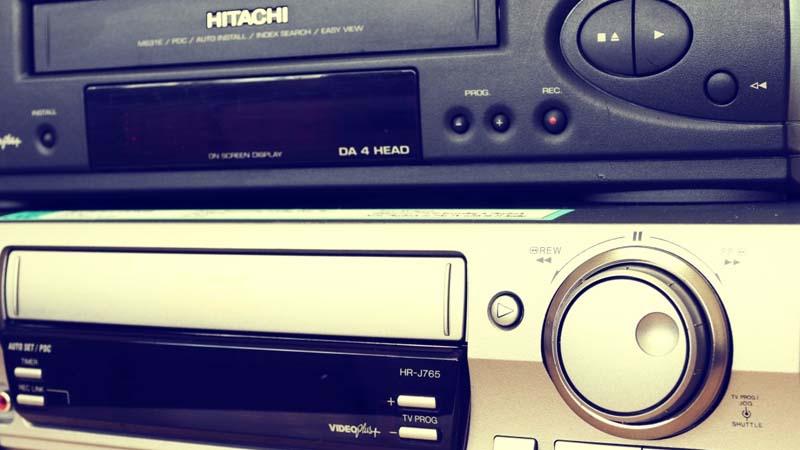 Vídeos VHS de los ochenta